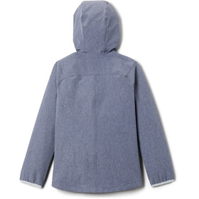 Columbia Rocky Range Chaqueta Softshell Niñas, nocturnal heather/cirrus grey zip and binding